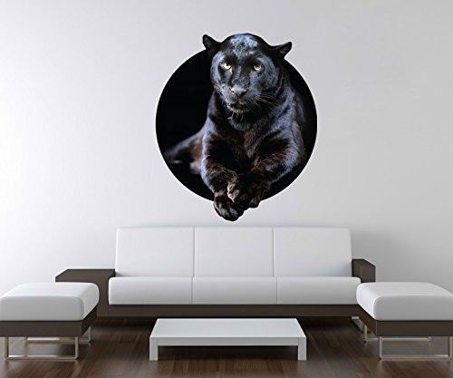 3D Wandtattoo Puma schwarz Panther Jaguar Tier Wand Aufkleber Deko Wandbild Wandsticker A3D26, Motiv Breite:60cm