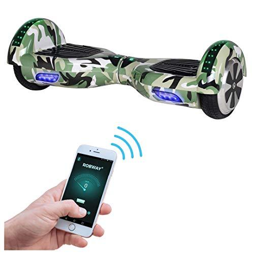 Robway W1 Hoverboard - Das Original - Samsung Marken Akku - Self Balance - 22 Farben - Bluetooth - 2 x 350 Watt Motoren - App - Led (Camouflage)