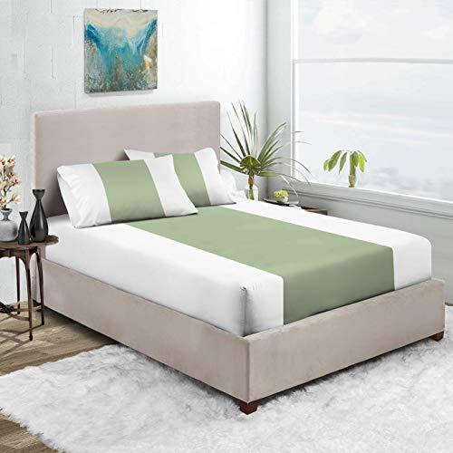 Exotic Bedding Collection - Sábana bajera ajustable de algodón egipcio para cama king (3 unidades, 600 hilos, 38 cm de profundidad)