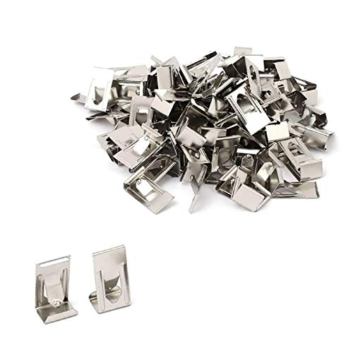 30pcs 3D Small Picture Photo Frame Printer Glass Bed Clips Swiss Metal Spring Turn Clip Hanger Silver Tone 26mmx14mm