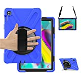 Galaxy Tab S5e Case with Stand, SIBEITU 3 Layer Corner Protection Case Cover with Hand Strap&Shoulder Strap, Heavy Duty Shock Child Proof Case Cover for Samsung Galaxy Tab S5e Tablet 10.5'' Blue