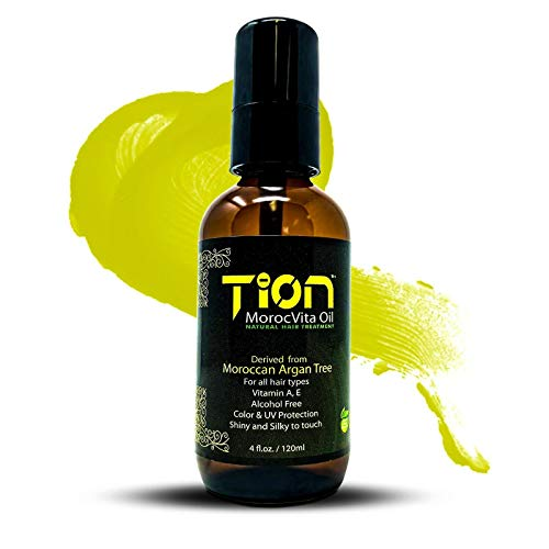 Tion Morocvita Hair Moroccan Argan oil Fast Hair Growth Treatment for All Hair Types 4 Oz