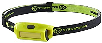Streamlight 61711 Bandit Pro 180-Lumen Rechargeable LED Headlamp with USB Cord Hat Clip & Elastic Headstrap Yellow – Box Packaged