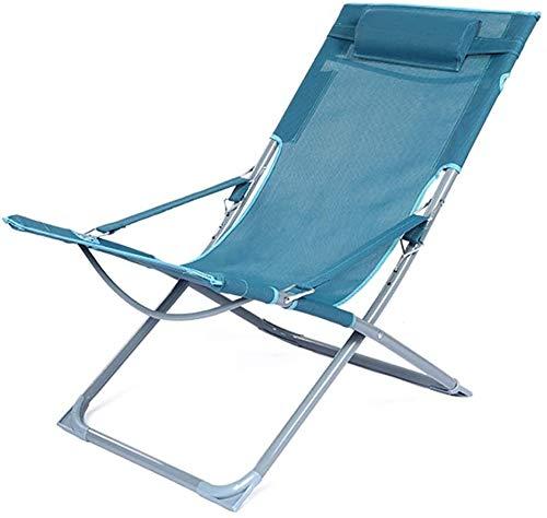Lanrui Campingstuhl Klappliege Verstellbarer Portable for Garden Beach Mittagspause Start Balkon Freizeit Büro
