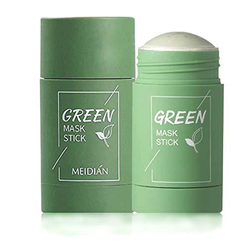 Grüner Tee Purifying Clay Stick Mask Ölkontrolle Gesichtsmaske, Stick Deep Cleansing Anti-Akne-Maske Fine Solid Mask Green Tea, Auberginen Akne Cleansing Solid Mask