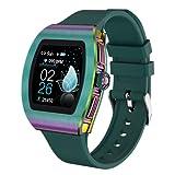 FZXL M13 Smart Pareja Reloj Femenino Android Monitor de Ritmo cardíaco Femenino Síntomas fisiológicos Tiempo Push Push IP68 Running Sports Apto para iOS Android,D