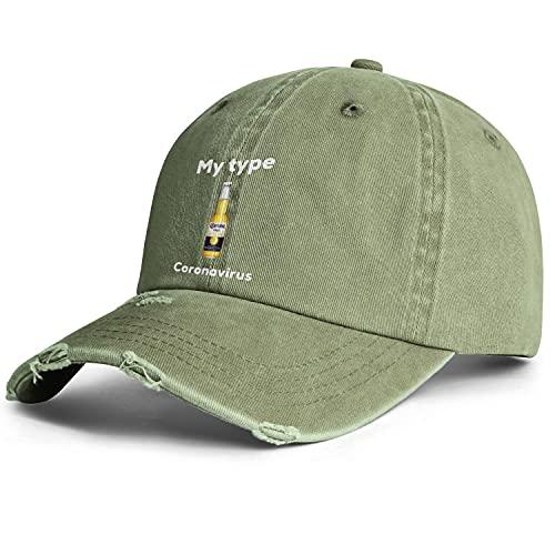 LunchBaggg Washed Denim Cap Coronavirus-Funny-Beer-Bottle- Adjustable Trucker Hat Outdoor