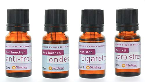 4 Synergies bien être - melange huiles essentielles pures et naturelles - pour diffuseur