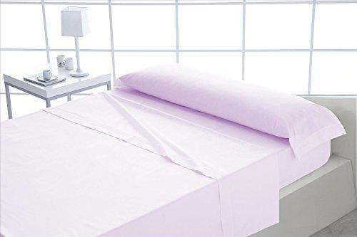 ForenTex - Juego de sábanas, (M-Rosa), 100% algodón, Rosa, Cama de 105 cm, Pieles sensibles, lo Natural y ecológico es Siempre un acierto