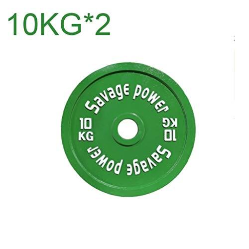 Ultrafinas Grip Peso placas de peso discos pintura moldeada en color acero Barra Pieza 5 kg * 2, * 2 10 kg, 15 kg * 2 placas Olímpicos entrenamiento de la fuerza gimnasia de entrenamiento con barra pi