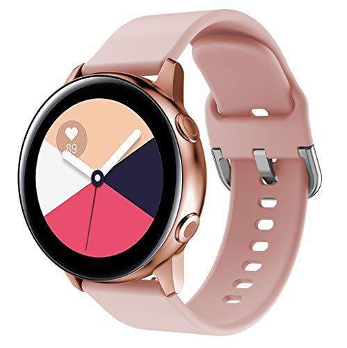 Für Samsung Galaxy Watch Active Silikon Uhrenarmband, Armband Schnellverschluss Ersatzband Mehrfarbig Watch Armband Uhr Ersatzarmbände Uhrenarmbänder Handschlaufe (Rosa)