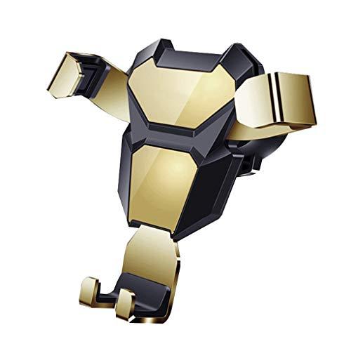 Detrade Handyhalter für Auto Verbesserte Schwerkraft Autotelefon Auto-Clamping Air Vent Auto Upgrade Durchführen Handy Automatisches Spannen Belüftung Handyhalter (Gold)