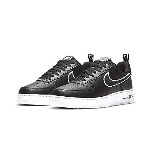 Nike Air Force 1, Zapatillas de bsquetbol Hombre, Black Black White, 45 EU