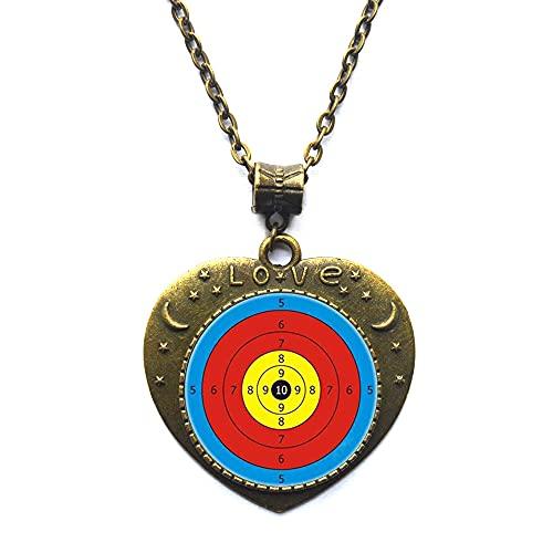 Collier de fléchettes avec pendentif en forme de cible de fléchettes - Bijoux de sport - Cadeau d anniversaire - Collier cible - Bijoux #87