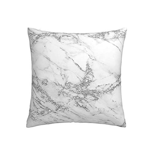 RETRUA Fundas de cojín de mármol blanco gris funda de almohada decorativa para sala de estar, dormitorio, sofá silla de 45 x 45 cm