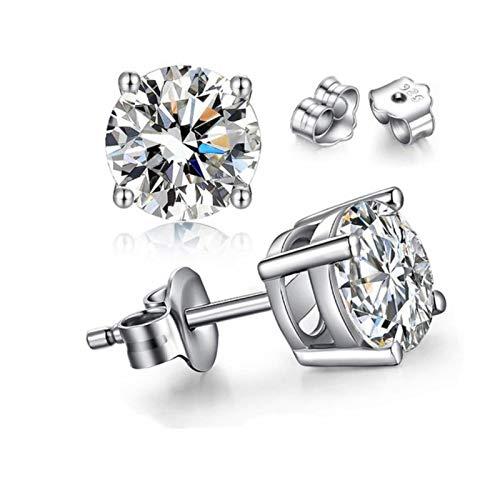 Guang Pendientes de plata 925 no alérgicos plata 925 joyería de lujo zirconia diamante Stud pendientes para mujeres boda