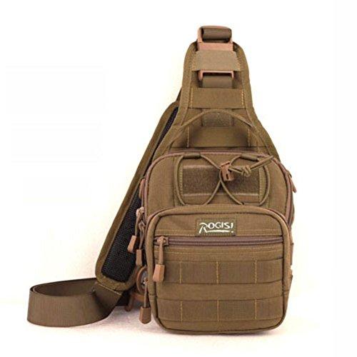 Sincere® Hambourg sac de poitrine / sac Messenger extérieur / sac de sport / ventilateurs militaires de camping poitrine pack-brun 15L