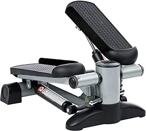 Ultrasport Up-Down-Stepper per l'Allenamento di Gambe e Glutei, Attrezzo Fitness Mini con Computer con Molte Funzioni, Cyclette, Cilindro Idraulico Resistente all'Usura