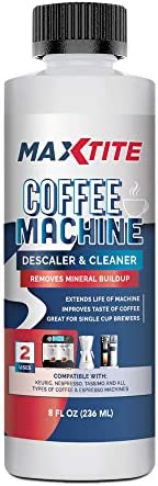 MaxTite Coffee Machine Descaler Cleaner 1 Pack Made in the USA Universal Descaling Solution product image