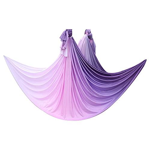Linyuex Aéreo de Yoga Hamaca Fitness 6meter / 6.5 Yardas 100% Nylon Yoga Tela Fitness Bodybuilding Yoga Accesorios (Color : Style G)