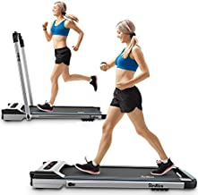 REDLIRO Under Desk Treadmill 2 in 1 Walking Machine Portable Space Saving Fitness Motorized Folding Treadmill Electric for Home Office Workout Indoor Exercise Machine