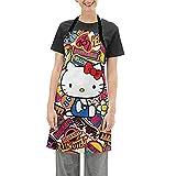 Hello Kitty Delantal impermeable ajustable para el hogar, cocina, restaurante y cafetera, hornear, asar a la parrilla, limpieza del hogar