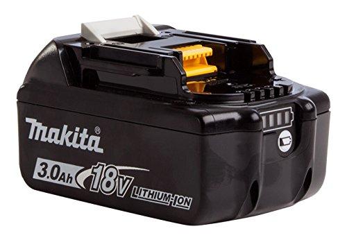 Makita BL1830B batteria Li-Ion 18V 3.0Ah (con indicatore livello di carica)–nero/bianco (pezzo) / 632G12-3