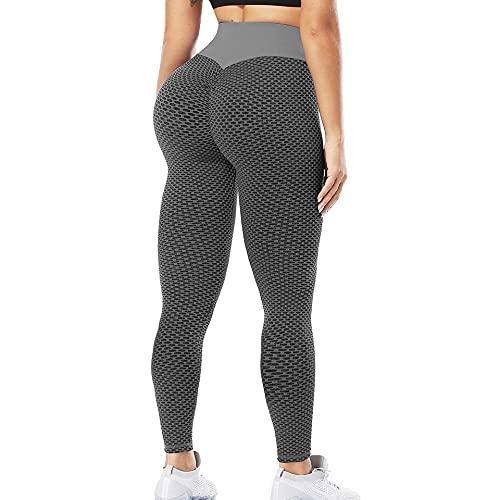 QTJY Pantalones de Yoga Ajustados Que levantan la Cadera, Mallas Deportivas de Cintura Alta para el Vientre para Mujeres, Pantalones de Ejercicio Push-up AS