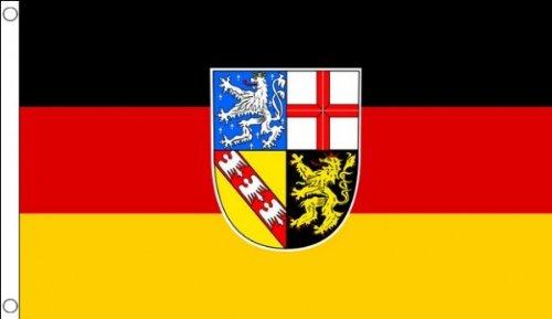 AZ FLAG Flagge Saarland 90x60cm - Saarland Fahne 60 x 90 cm - flaggen Top Qualität