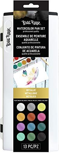 Brea Reese Watercolor Pan Set - Metallics - Professional Grade Watercolors in a Brilliant Palette