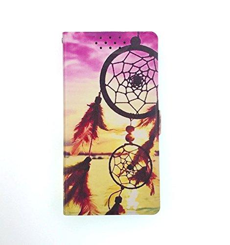 Stengh Archos 50d Oxygen Plus Hülle, Flip Phone Wallet mit Kartenschlitzen Standfunktion Magnetisch Off Phone Hülle BM