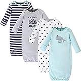 Hudson Baby Vestidos de algodón Unisex, Ballena Guapa., Prematuro/Recién Nacido
