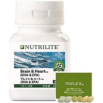 [公式ストア 正規流通品限定:トリプルXサンプルパック付] ニュートリライト ブレイン&ハート(DHA&EPA)
