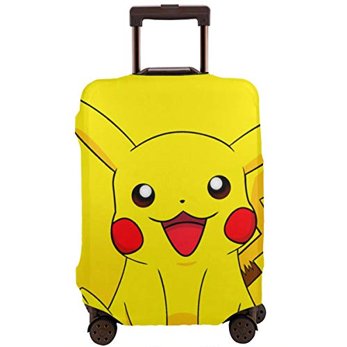 Travel Luggage Cover Smile Pikachu Luggage Protector Suitcase Cover Fits 18-32 Inch Luggage