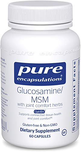 Pure Encapsulations - Glucosamine/MSM - Dietary Supplement Support for Healthy Joint Function and Tissues - 60 Capsules