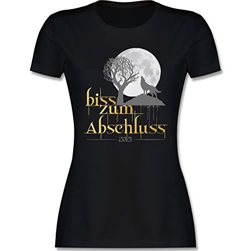 Abi & Abschluss - Biss zum Abschluss 2021 - M - Schwarz - Tshirt abi 2021 - L191 - Tailliertes Tshirt für Damen und Frauen T-Shirt