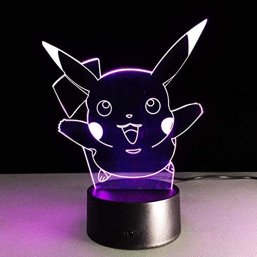 Lámpara 3D ilusión Luz de Noche Pikachu es muy Ilusión Lámpara de mesa Luces con para la decoración del partido Presentes de...