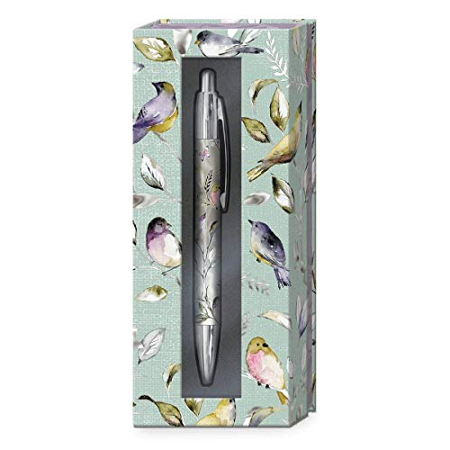 Punch Studio with Boxed Pen with Birds, Black (43824)