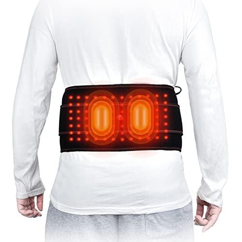 VCXZ Soporte De Cintura De Cinturón De Cintura De Infrarrojo Lejano - Ajuste del Tercer Engranaje Cinturón Calefactor Eléctrico para Artritis en la Zona de la Espalda, Abdominal, Dolor