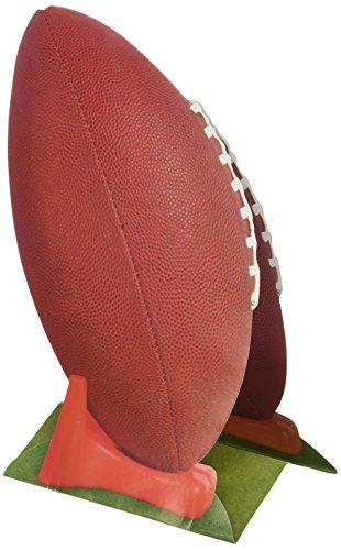 Beistle - Centro de Mesa de fútbol 3D, Papel, Color marrón/Naranja/Verde/Blanco, Talla única