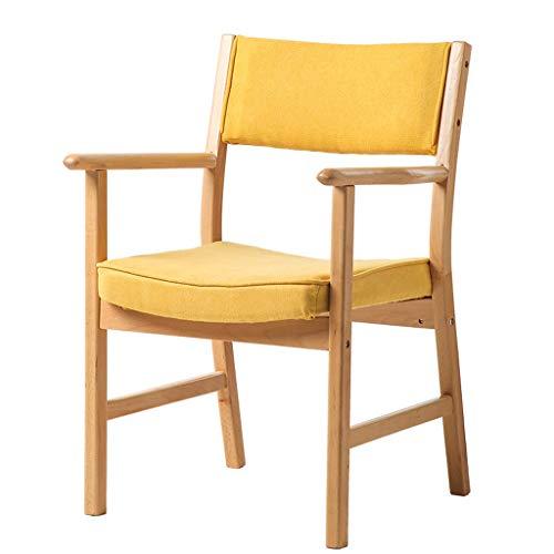 Lxn simplicité Cuisine Moderne Chaise de Salle à Manger Coussin en Tissu avec des Jambes Solides en Bois Massif pour Bureau Hôtels Accueil - avec accoudoirs - 1pcs