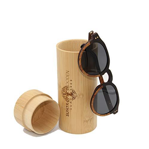 Sonnenbrille aus Holz, polarisierte Sonnenbrille aus Holz, ökologische Holzrahmen, handgefertigt, Sonnenbrille, Unisex Herren und Damen, aus Echtholz, modische Sonnenbrille aus Holz.