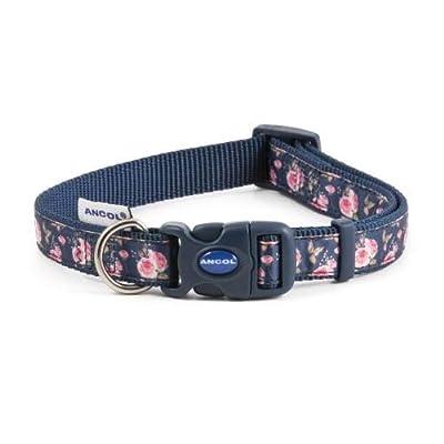 Ancol Pet Products Dog & Puppy Collars Indulgence Fashion Range (Navy Rose, Small 20-30cm)