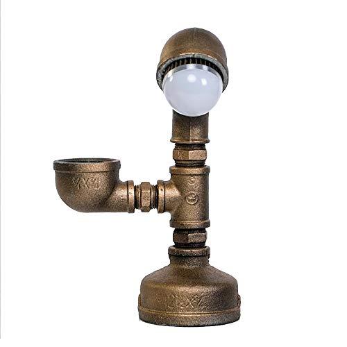 TOYM UK L'industrie Créative Vent Maison Lampe De Table Loft Chambre Personnalisée LED Économie D'énergie Lampe De Bureau Lecture Lampe De Bureau (Couleur : Cold light)