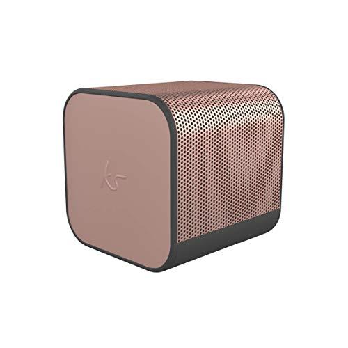 KitSound Boom Cube - Altavoz inalámbrico, Color Rosa y Oro