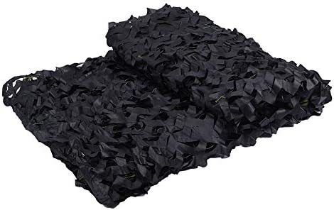 LOOGU Black Camo Netting 150D Camouflage Net for Sunshade Camping Military Hunting Blind Party product image