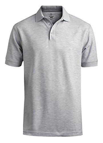 Edwards Garment Men's Big And Tall Short Sleeve Golf Polo Shirt_HEATHER GREY_2XL