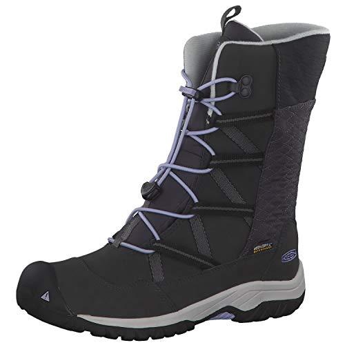 KEEN Unisex-Kinder Hoodoo Botte Imperméable Trekking-& Wanderschuhe, Schwarz (Black/Sweet Lavender 001), 24 EU