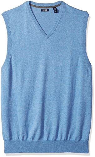 IZOD Men's Big and Tall Premium Essentials V-Neck Sweater Vest, New Revival, 3X-Large Tall