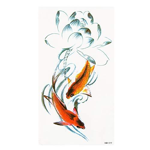 LEIRUI 5 Blätter Wasserdicht Temporäre Tattoos Fake Tattoos Body Art Tattoo Aufkleber Mädchen Goldfisch Meerjungfrau Geige Transfer Tattoos für Arme Schultern Brust Rücken Beine temporär Tätowierung T